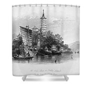 China: Golden Island, 1843 Shower Curtain