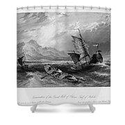 China: Gulf Of Bohai, 1843 Shower Curtain