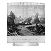 China: Wuyi Shan, 1843 Shower Curtain