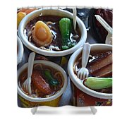 Chinese Food Miniatures 1 Shower Curtain