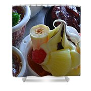 Chinese Food Miniatures 2 Shower Curtain