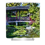 Chinese Gardens In Portland Oregon Shower Curtain