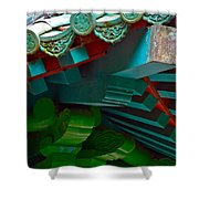 Chinese Pagoda Roof Detail Shower Curtain