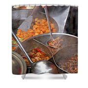 Chinese Street Food Shower Curtain