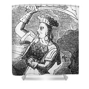Ching Shih, Cantonese Pirate Shower Curtain by Photo Researchers