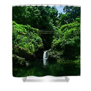 Chings Pond  Shower Curtain by Ken Smith