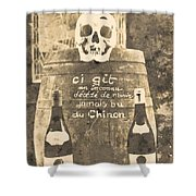 Chinon Wine  Shower Curtain