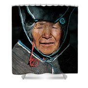 Chipaya Culture Grandmother. Department Of Oruro. Republic Of Bolivia. Shower Curtain