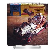 Chitty Chitty Bang Bang Corgi Toy Shower Curtain