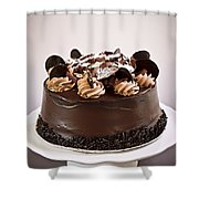 Chocolate Cake Shower Curtain