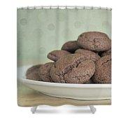Chocolate Cookies Shower Curtain