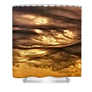 Chocolate Sky Shower Curtain