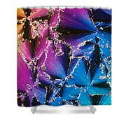 Cholesteryl Benzoate Crystal Shower Curtain
