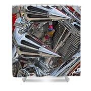 Chopper Engine-2 Shower Curtain