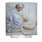 Chopsticks Iv - Rice Bowl Shower Curtain