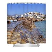 Chora Naxos Shower Curtain