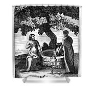 Christ & Woman Of Samaria Shower Curtain
