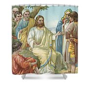 Christ And His Disciples Shower Curtain