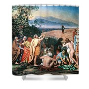 Christ Appears Shower Curtain