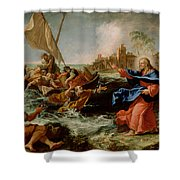 Christ At The Sea Of Galilee Shower Curtain