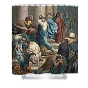 Christ At The Temple Shower Curtain