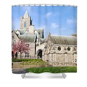 Christ Church Cathedral In Dublin Shower Curtain
