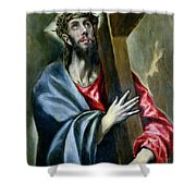 Christ Clasping The Cross Shower Curtain