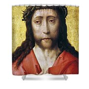 Christ In Crown Of Thorns Shower Curtain