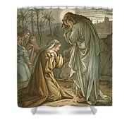 Christ In The Garden Of Gethsemane Shower Curtain