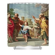 Christ Preaching In The Temple Shower Curtain