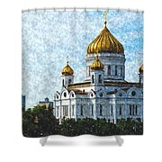 Christ The Savior Cathedral Shower Curtain