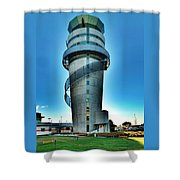 Christchurch Airport's Control Tower Shower Curtain