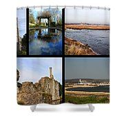 Christchurch Collage Shower Curtain