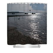 Christchurch Harbour Viewed From Mudeford Shower Curtain
