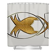 Christian Fish Shower Curtain