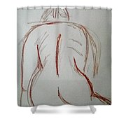 Christina - Life Drawing Shower Curtain