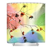 Christmas 1 Shower Curtain by Anil Nene
