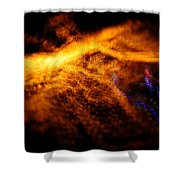 Christmas Abstract Lights Shower Curtain