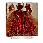Christmas Angle Shower Curtain