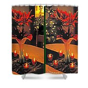 Christmas Arrangement - Gently Cross Your Eyes And Focus On The Middle Image Shower Curtain