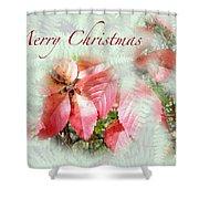Christmas Card - Virginia Creeper In Autumn Colors Shower Curtain