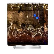 Christmas Carriages Shower Curtain by DigiArt Diaries by Vicky B Fuller