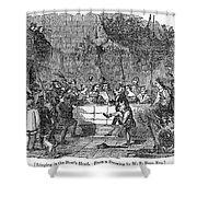 Christmas Feast, 1838 Shower Curtain
