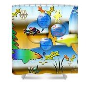 Christmas Fish Tank Shower Curtain