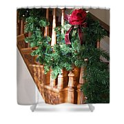 Christmas Garland Shower Curtain