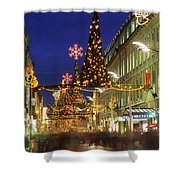 Christmas In Dublin, Henry Street At Shower Curtain