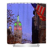 Christmas In New York Shower Curtain