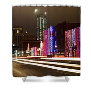 Christmas In Okc Shower Curtain