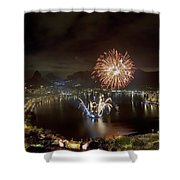 Christmas In Rio 2 Shower Curtain
