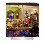 Christmas In Rochester Shower Curtain